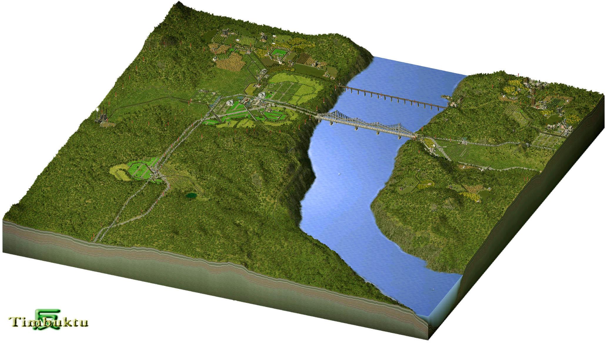 用的地图:廷巴克图地形翻转后而得   预览图: 灰度图下载(需自行生成)